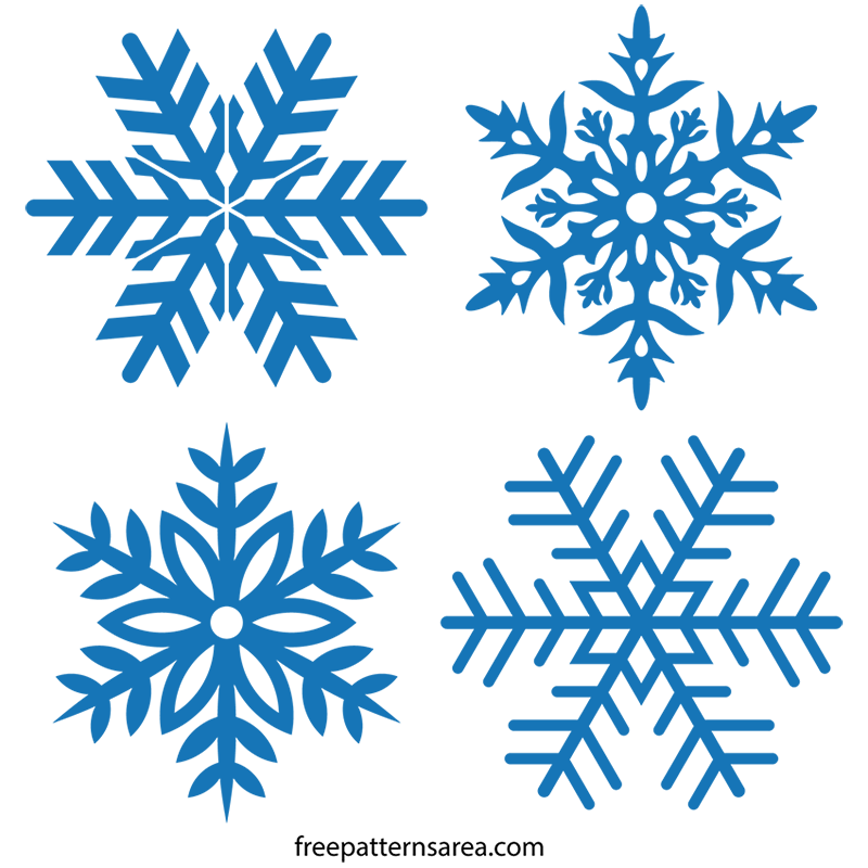 Free stencil vector drawings. Clipart snowflake illustration