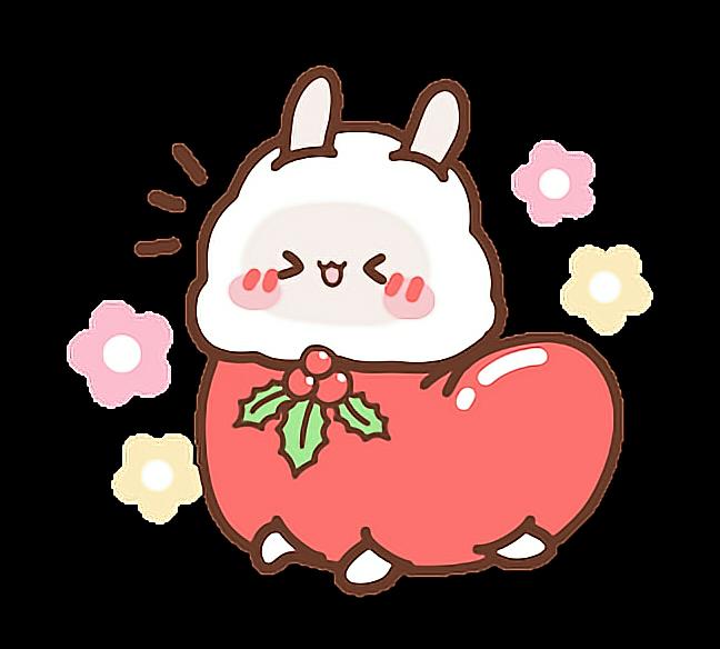 Cute kawaii love aesthetic. Holiday clipart sticker