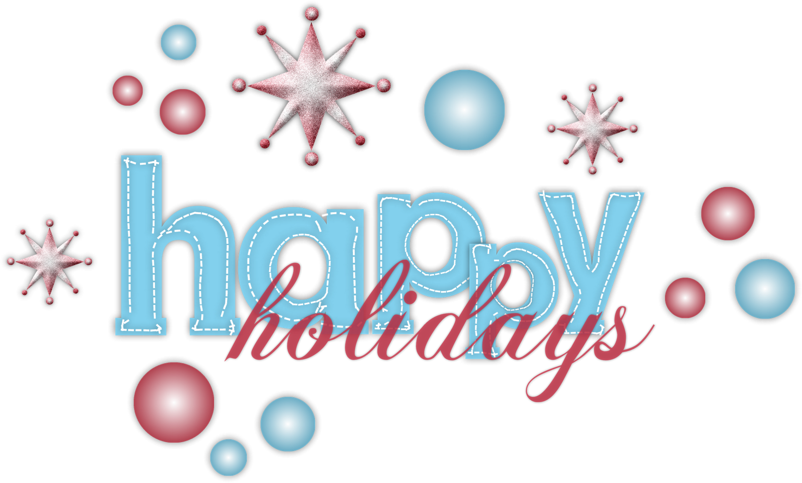 Holiday clipart transparent background. Happy holidays png free