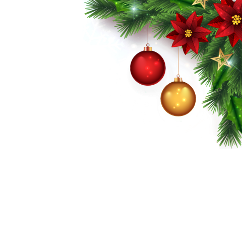 Christmas profile picture filter. Holiday frame png