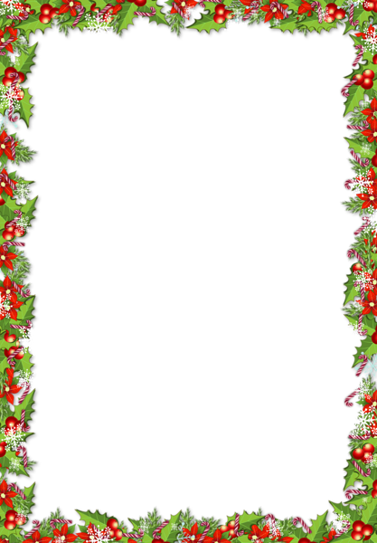 Holiday frame png. Christmas with mistletoes free