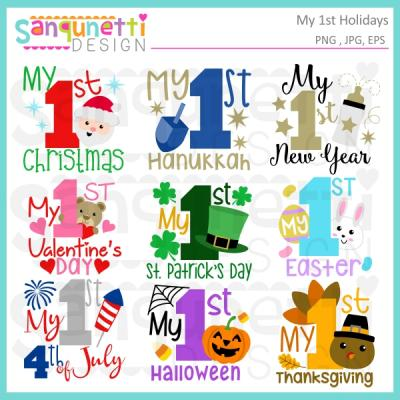 Holidays clipart. Sanqunetti design my st