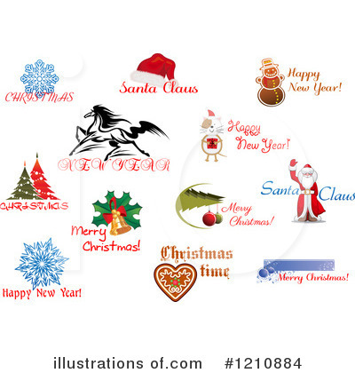 Holidays clipart. Illustration by vector tradition