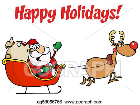 Holidays clipart holiday card. Eps vector greetings with