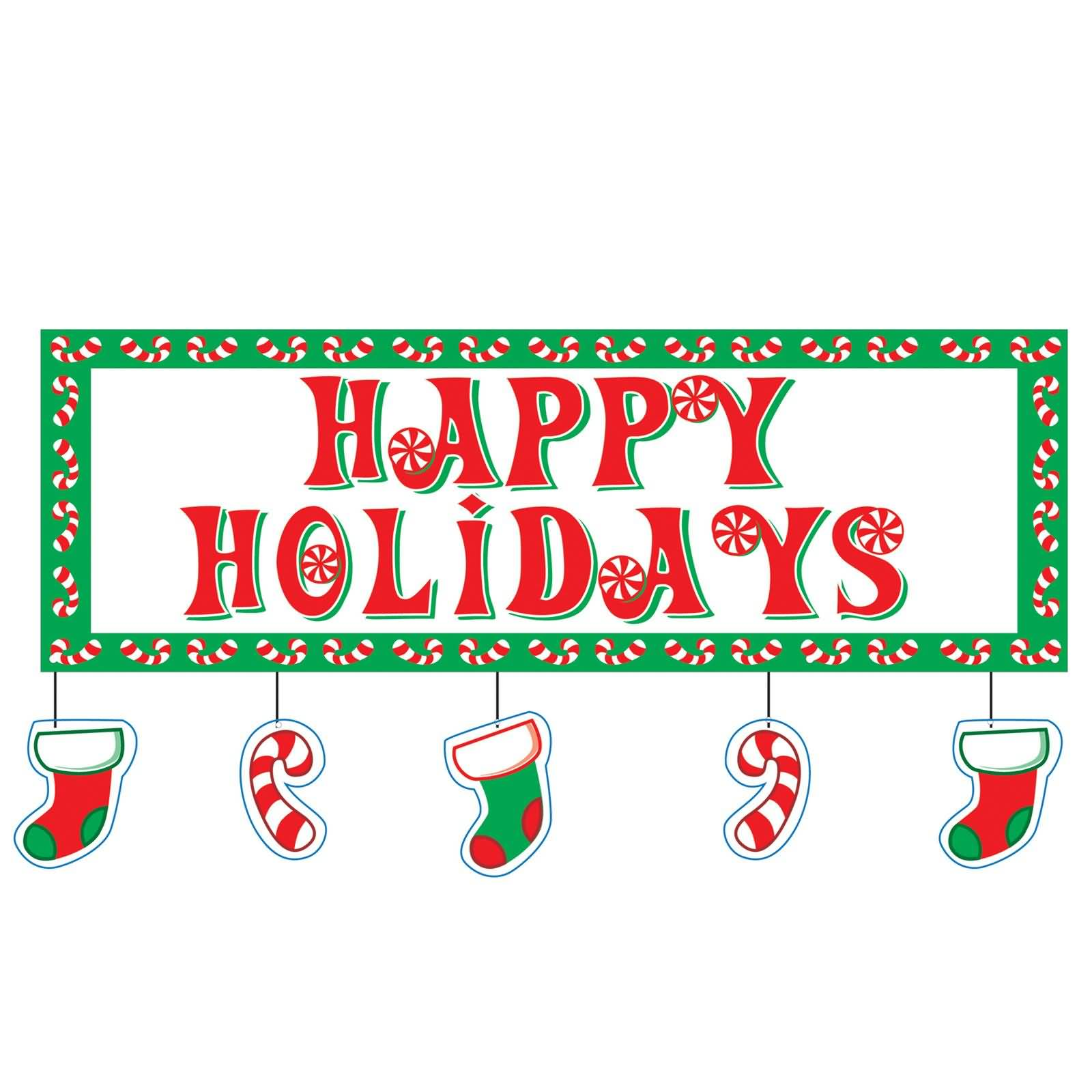 most beautiful happy. Holidays clipart holiday card