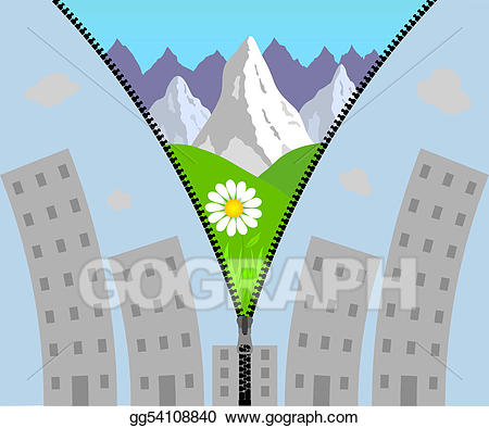 Stock illustration zipper holidays. Mountain clipart holiday