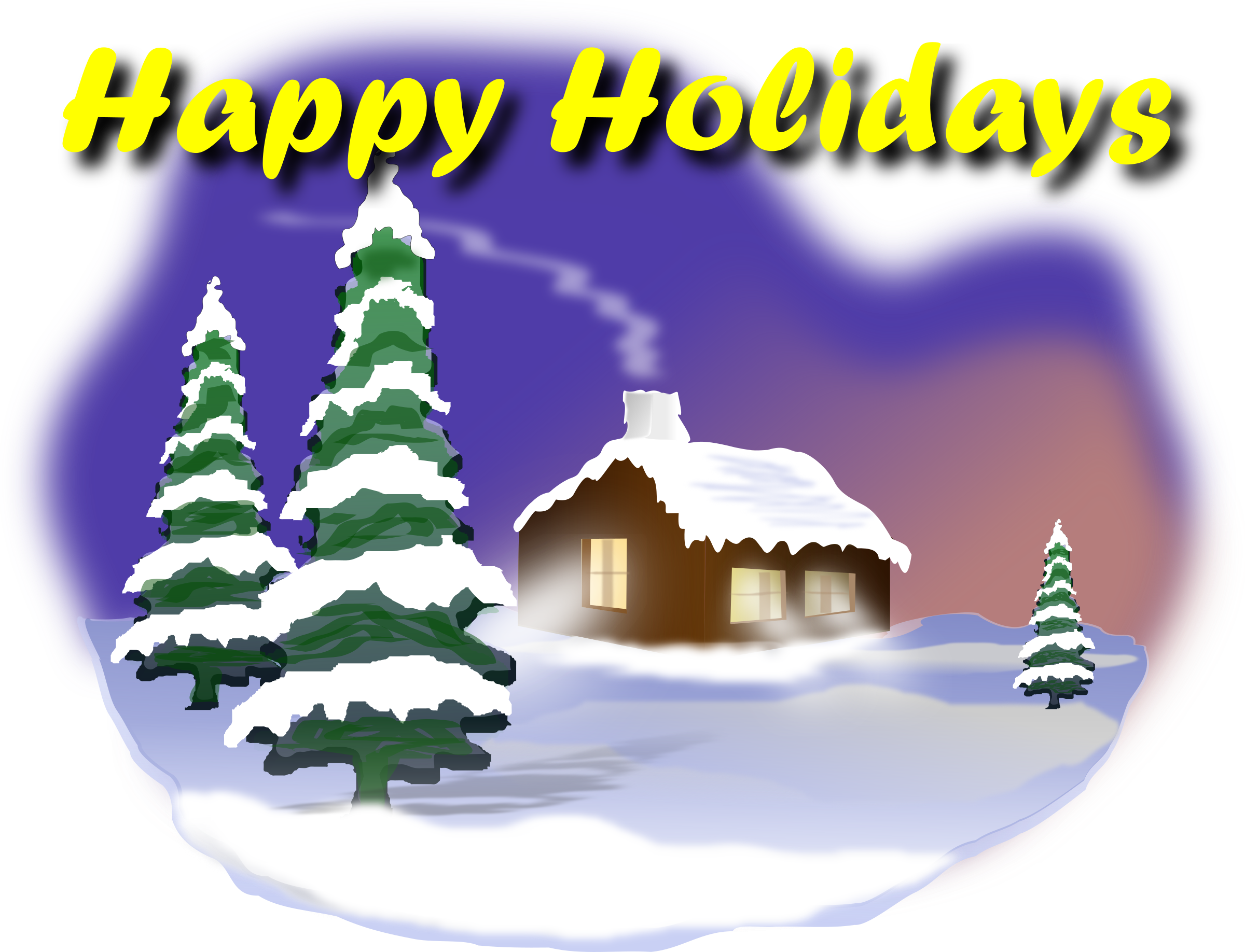Happy big image png. Holidays clipart pine