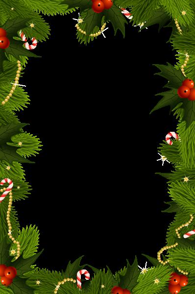 Holly border png. Transparent christmas frame pinterest