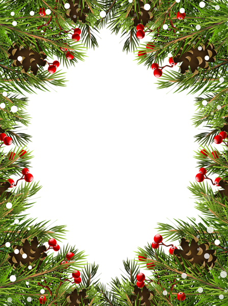 Christmas frame transparent image. Holly border png
