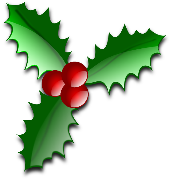 Holly clipart. Free christmas clip art
