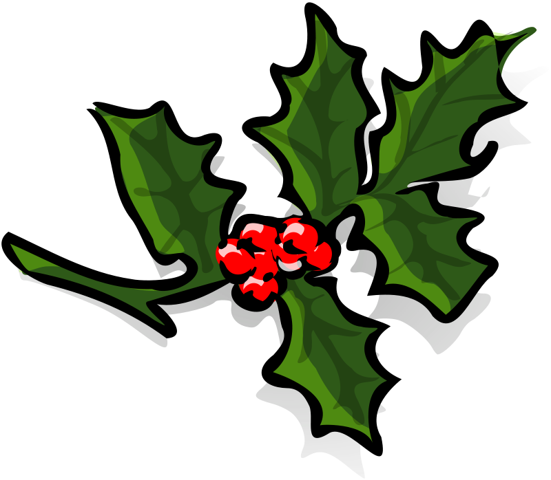 Graphics of christmas wreaths. Holly clipart boughs