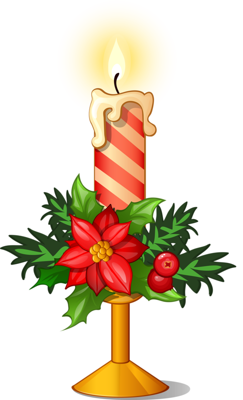 Holly clipart candle.  candles ornaments wreaths