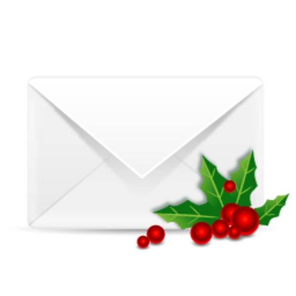 Christmas mail free images. Holly clipart cranberry