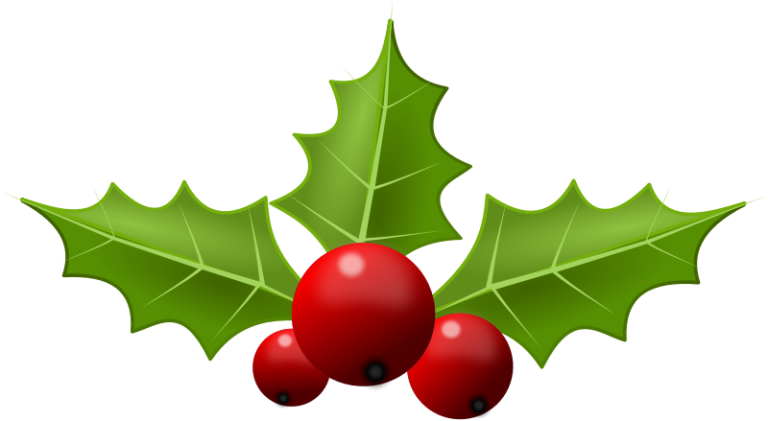 Picture of christmas clip. Holly clipart file
