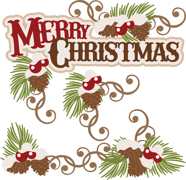 Holly clipart file. Merry christmas cuttable scrapbook