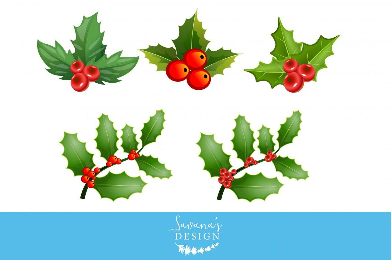 . Holly clipart file