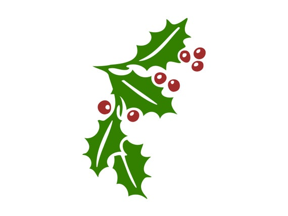 Svg christmas berries cut. Holly clipart file