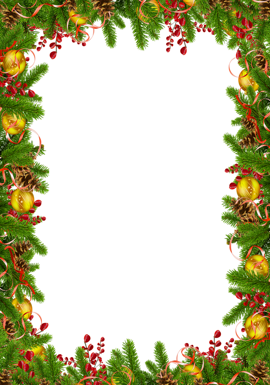 Transparent christmas photo with. Holly clipart frame