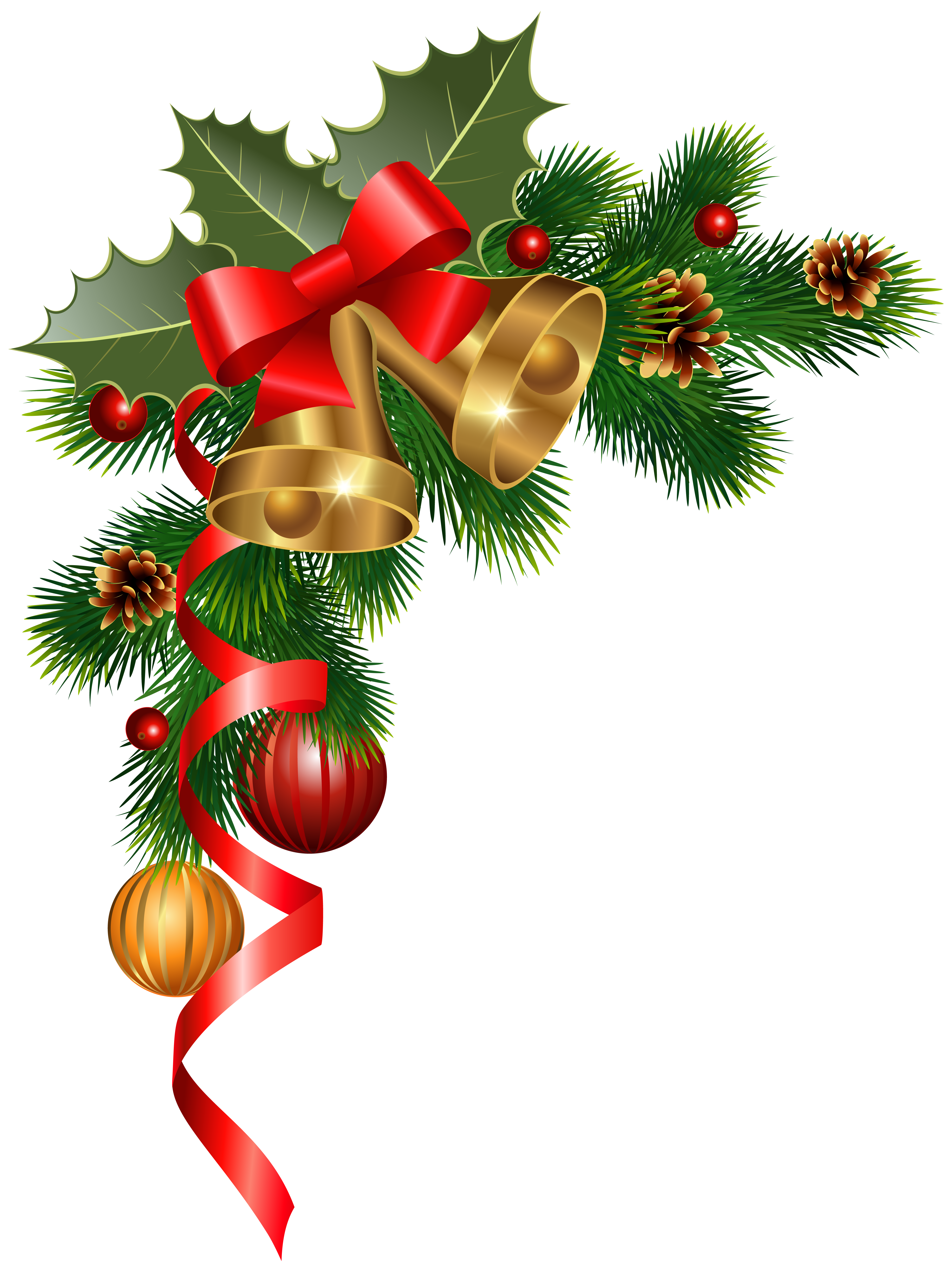 Christmas corner borders images. Holly clipart frame
