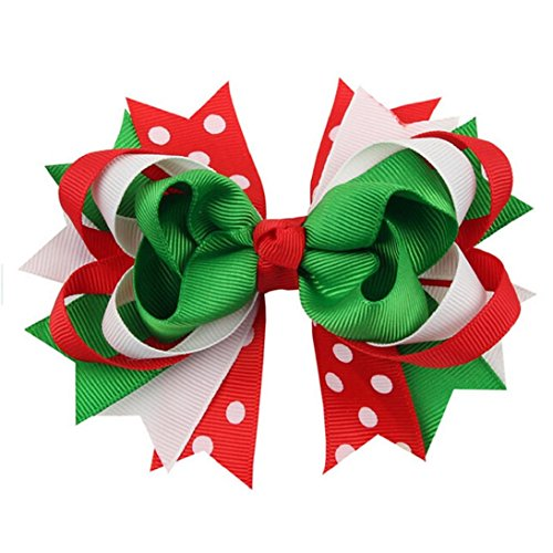 Best christmas bows top. Holly clipart hair bow