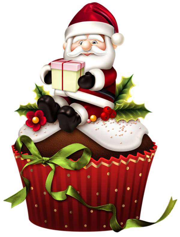 Gateaux tubes noel its. Holly clipart hampers