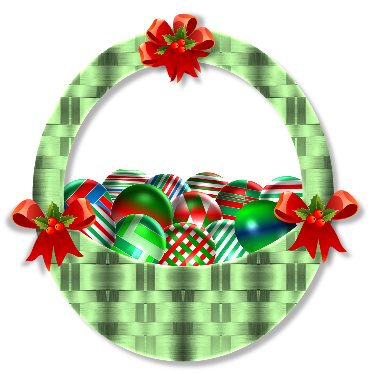 Holly clipart hampers. Home decor christmas basket