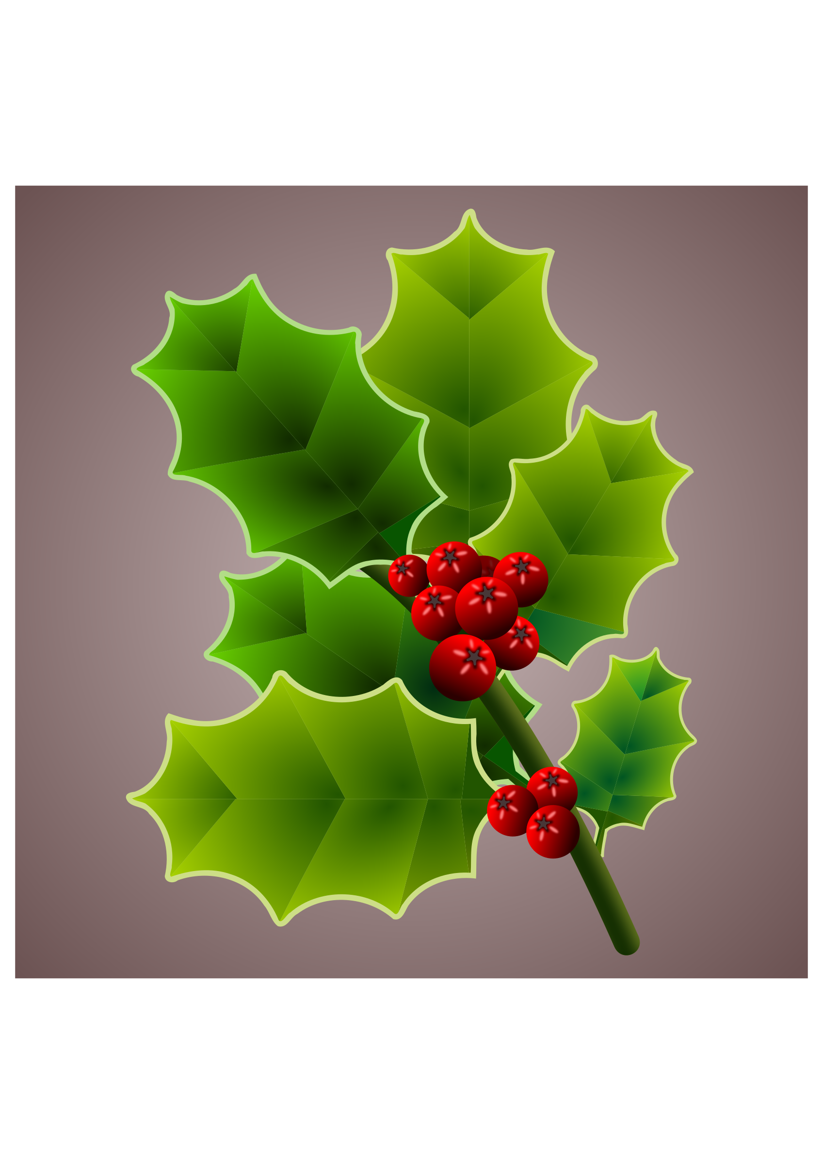 Holly clipart holly branch. Big image png