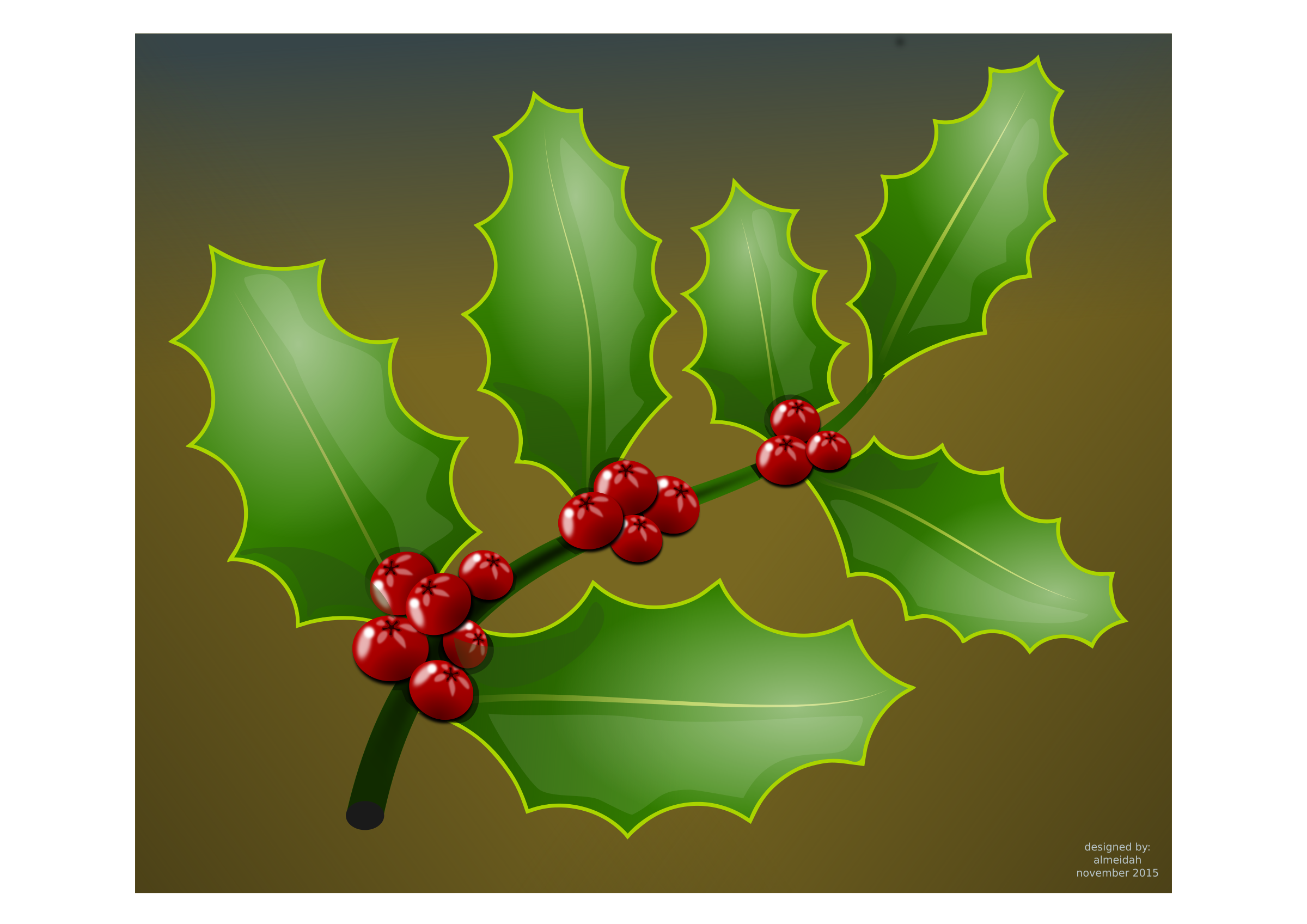 Big image png. Holly clipart holly branch