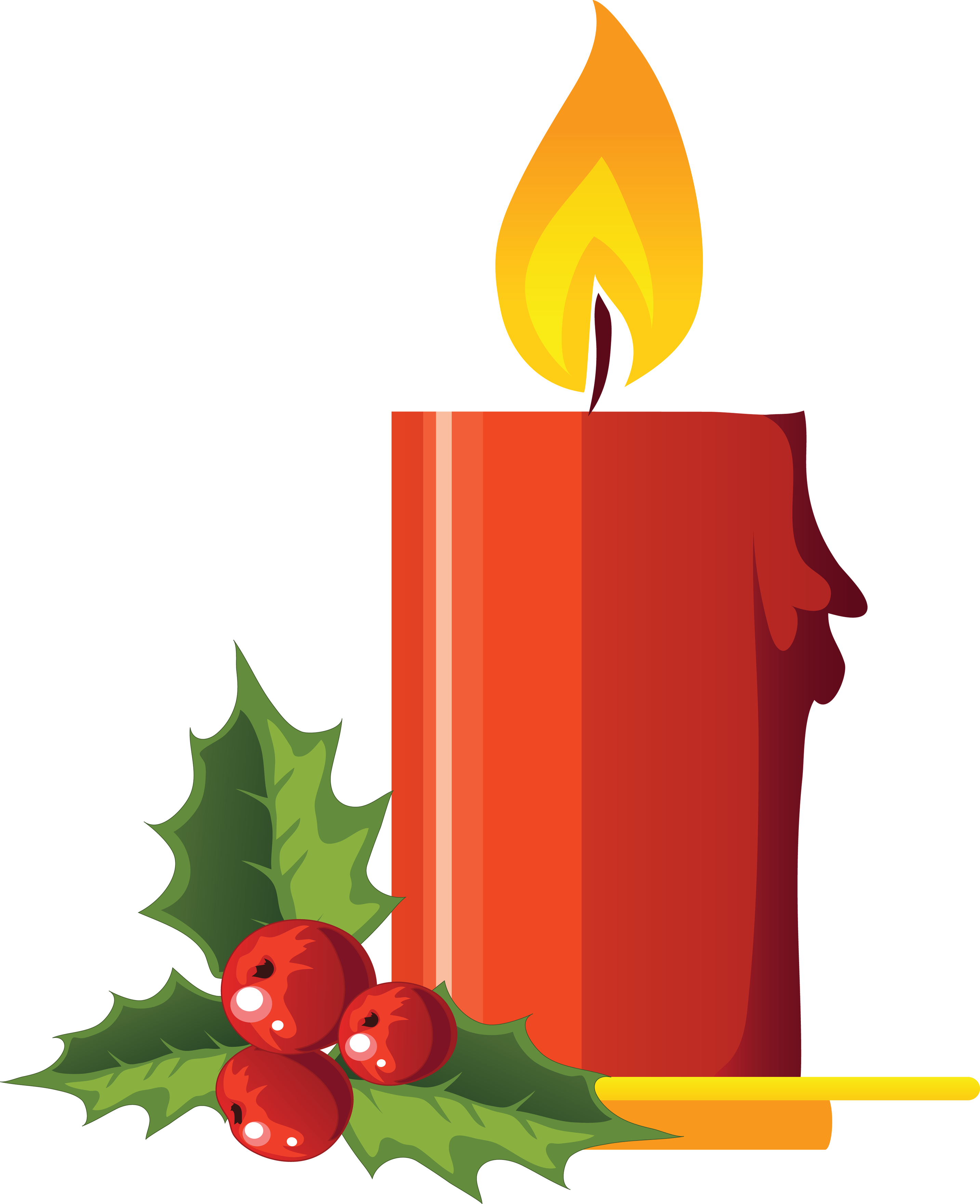 Holly clipart icon. Best candles png candle