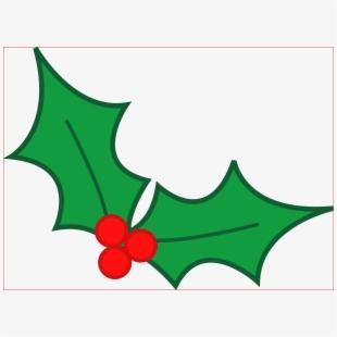 Holly clipart icon. Holley leaf christmas mistletoe