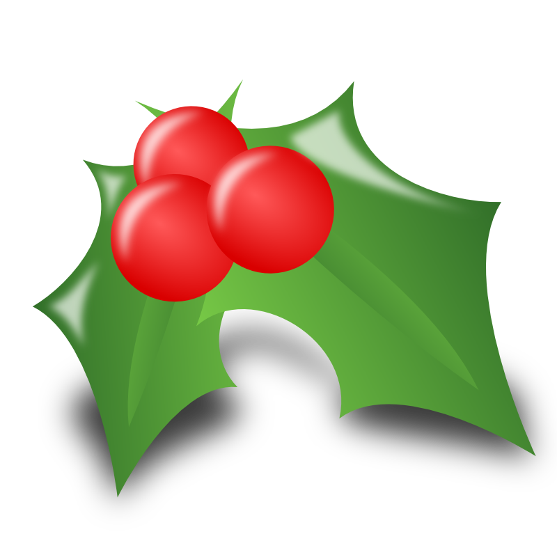 Holly clipart modern. Free small christmas images