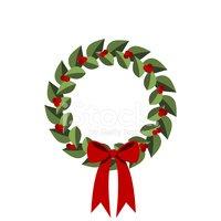 Wreath stock vectors me. Holly clipart modern