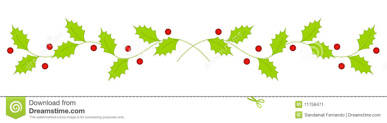 Christmas clip art library. Holly clipart page divider