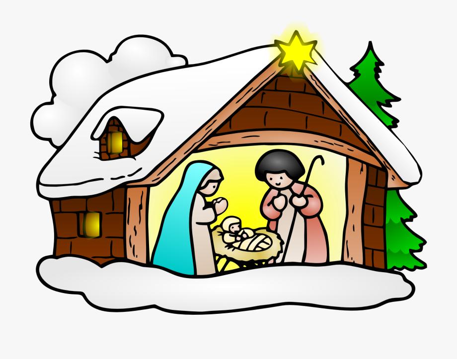 Christmas religious clip art. Nativity clipart religous