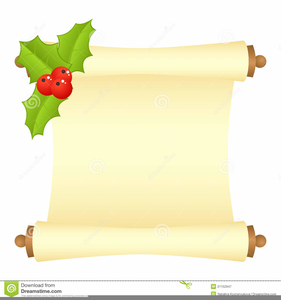 Scroll clipart christmas. Scrolls free images at