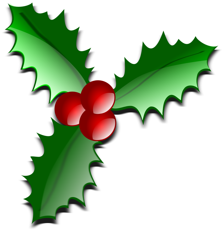 Free christmas images download. Holly clipart small