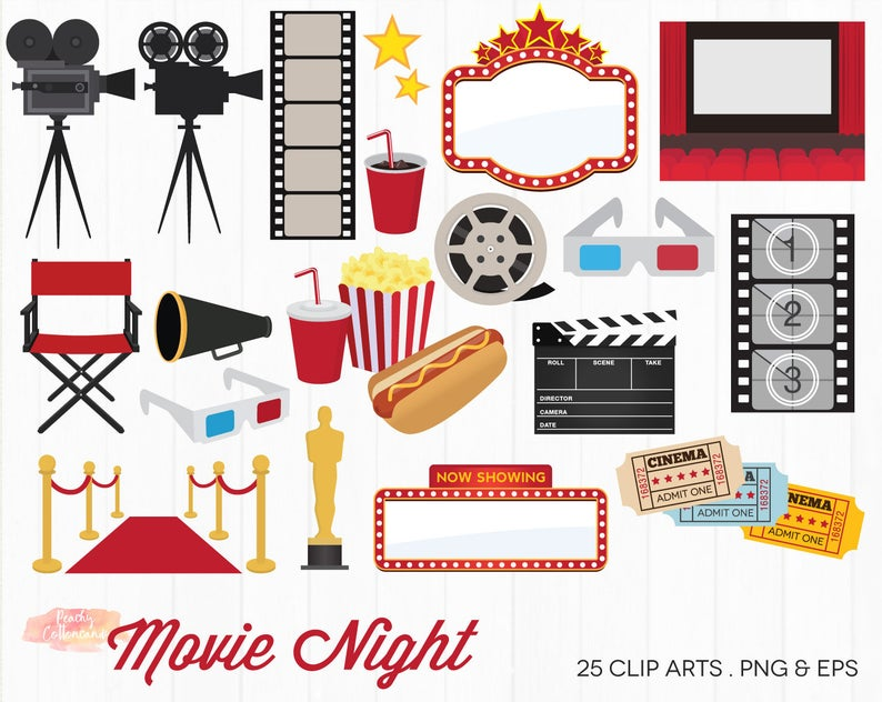 Buy get free movie. Hollywood clipart