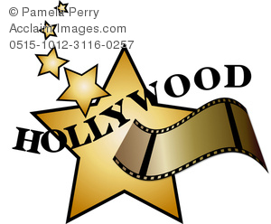 Hollywood clipart. Clip art image of