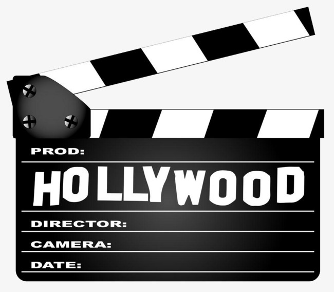 Is a device clapperboards. Hollywood clipart