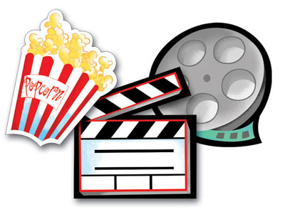 Hollywood clipart. Movie reels free clip