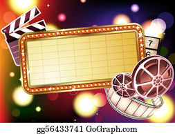 Clip art royalty free. Hollywood clipart background