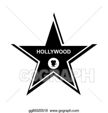 Hollywood clipart black and white. Star icon simple style