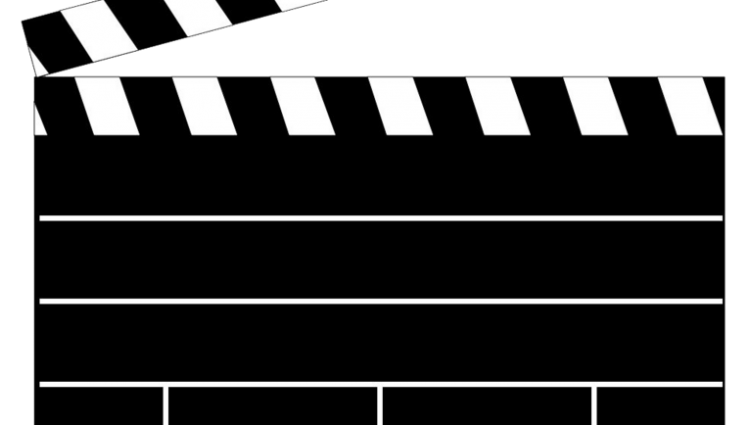 hollywood clipart clap board