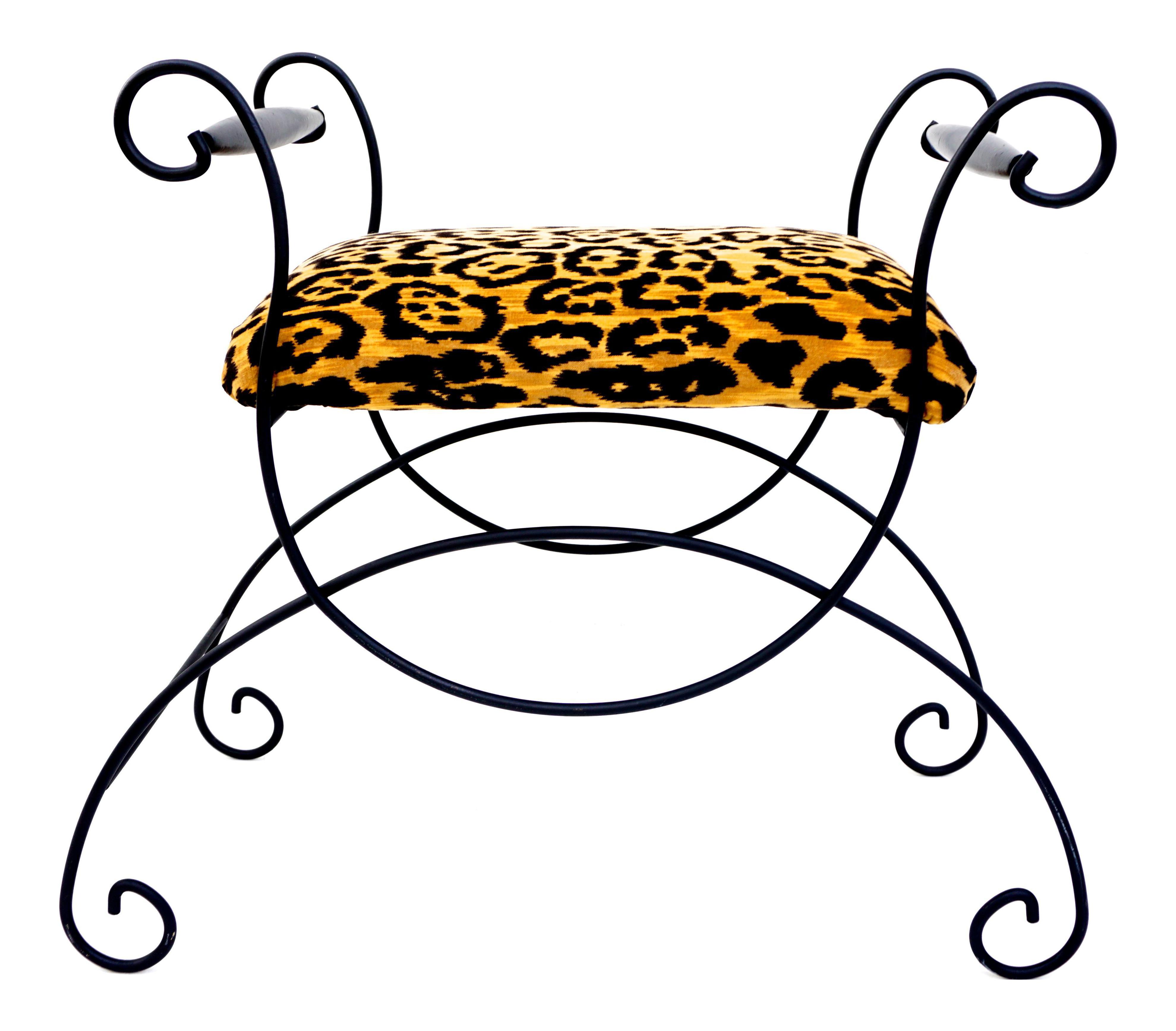 Hollywood clipart glam hollywood. Mid century regency leopard