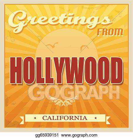 Hollywood clipart hollywood vintage. Clip art vector california