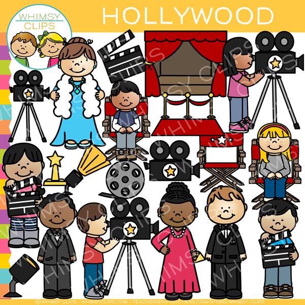 Hollywood clipart illustration. Kids clip art