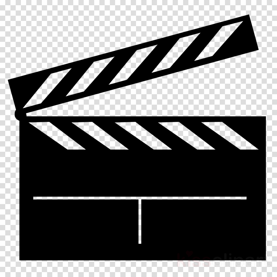 Black line background film. Hollywood clipart illustration