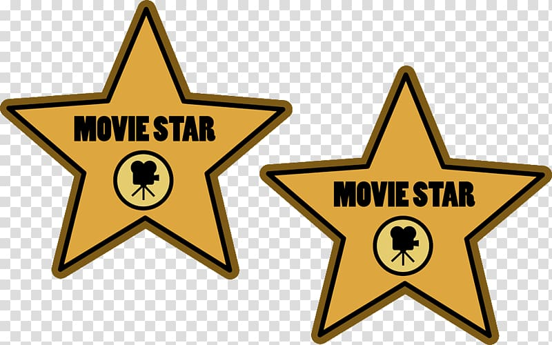 Movie star logo collage. Hollywood clipart illustration
