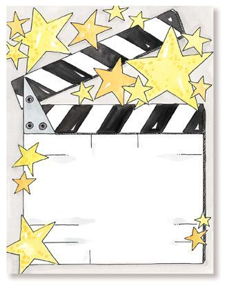 Hollywood clipart printable. Theme free printables personalize