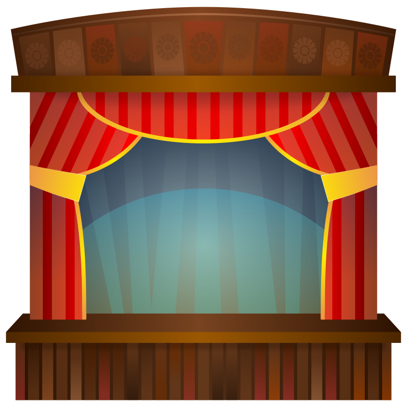Theater stage rocks theme. Mirror clipart hollywood